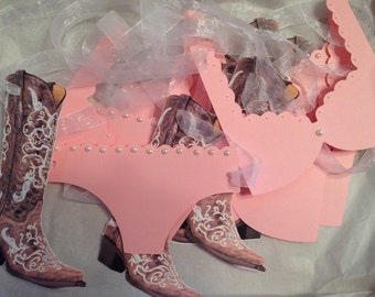 Bachelorette Boots & Bling banner country/ cowgirl