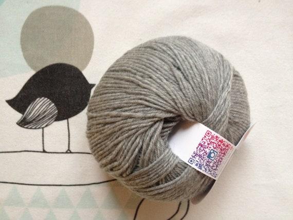 MERINO BABY WOOL grey flannel-white horse