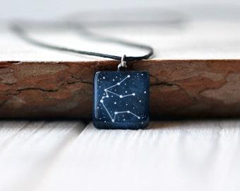 Aquarius pendant Zodiac necklace Astrology jewelry Zodiac sign necklace February birthday Star January Personalized