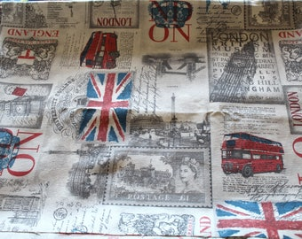 Coupon fabric upholstery London 50 x 69 cm