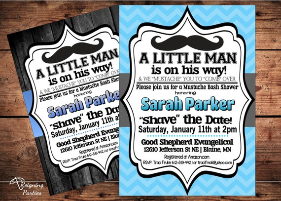 Little mister mustache baby shower invitation little man like this item filmwisefo Image collections