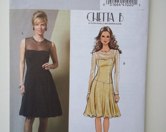 Sexy Dress/ Cocktail/fitted /prom / strapless/cruise /party dress 2006 sewing pattern, Bust 30 31 32 34, Size 6 8 10 12, Butterick B 4852