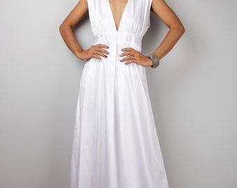 White Maxi Dress - Long White dress    : Oriental Secrets Collection II