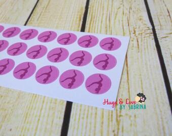 Gymnastics Planner Sticker - round