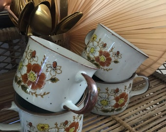 Set of four vintage mugs