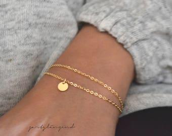 """Gold filled bracelet Tile """"xs"""""""