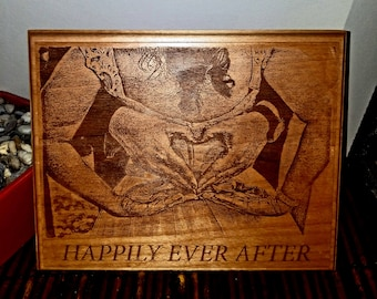 Custom Personalized wedding gift birthday gift mother's day gift engraved wood plaque