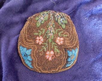 A Victorian beadwork bag