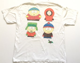 1998 SOUTH PARK Comedy Central Oversized Distressed Vintage T Shirt // Size XLarge