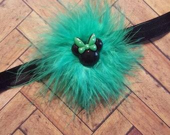 Minnie Mouse St Patrick's Day headband RTS ready to ship