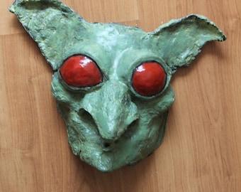 Decorative Goblin Mask | Paper Mache Mask | Costume