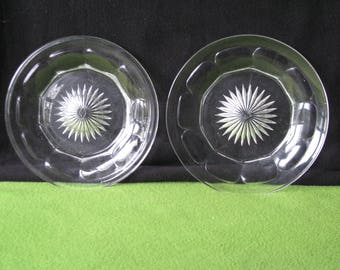 Glassware, Pressed Pattern Glass Plates, Heisey Company, 1950's