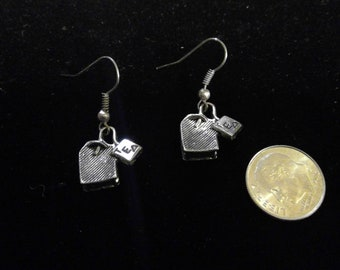 Tea Earrings - Silver Tone