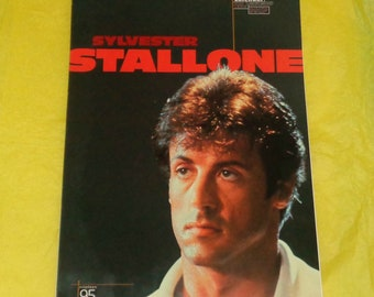 Sylvester Stallone 1995 Oliver Books Calendar Copyright Approved Film Memorabilia Full Page Pics Movie Star Vintage Collectable Action Hero