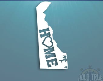 Delaware Decal - PICK COLOR and SIZE - Delaware Home Decal - Delaware Car Decal - Delaware sticker - Delaware car sticker