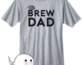 Dad Gift Idea Homebrew Shirt Brew Daddy T-Shirt T Tee Hops Craft Beer Homebrewing Home Brew Beer Making Brewed Husband Mens BrewDad Brew Dad