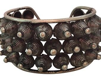 Tribal Conical Metal Cuff