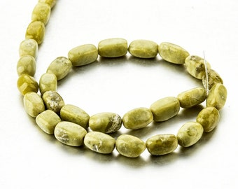 One Strand Chrysoprase Nugget Faceted Beads 8*12mm