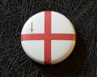 "1"" London England UK flag button - United Kingdom, city, pin, badge, pinback"