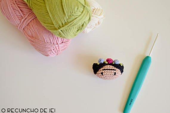 Amigurumis De Frida Kahlo : Frida kahlo amigurumi earrings crochet doll