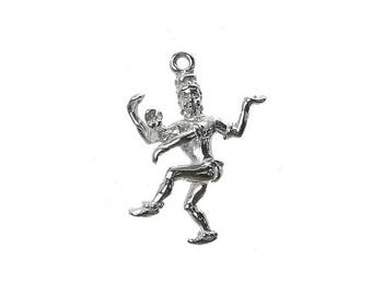 Sterling Silver Hindu God Shiva Charm For Bracelets