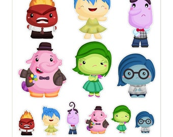 Inside Out Characters  Stickers // KC009