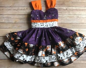 Nightmare Before Christmas Party Dress, Halloween Dress, Jack Skellington Party Dress