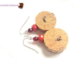 earrings in vino veritas red