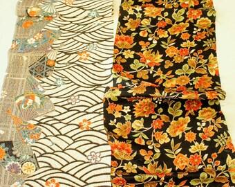 Vintage Japanese Silk Kimono Fabric | Patchwork Lot 109