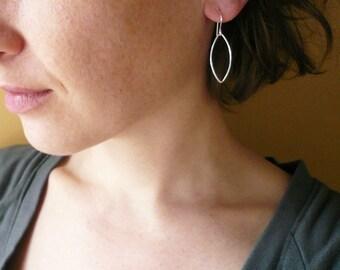 Petal Earrings in Sterling Silver - Small