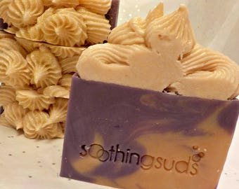 Nag Champa -  Hot Processed Olive Oil Artisan Soap, 6oz bar,       Soothing Suds Handmade Soap