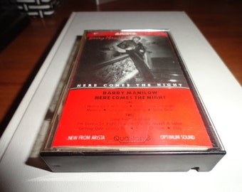 barry Manilow vintage compact cassette tape-cassette tape-vintage tape- vintage gift- music lover gift--