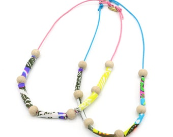 KIDS Fabric Beaded Necklace - Gift for Kid - Limited Edition Key West Collection