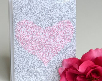 Valentine's Day Cards - Set of 8 - Illustrated Hearts