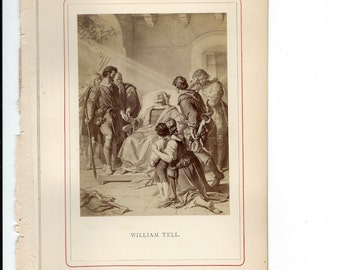 William Tell, 1869 Schiller Gallery Book Pages to Frame or use in Paper Arts PSS 2645