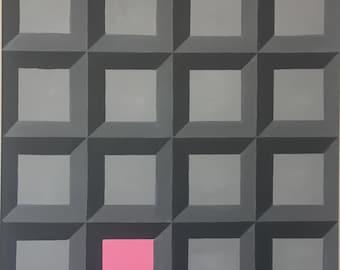 Original Geometric Canvas Painting