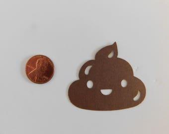 POOP Emojis / Die cut Emoji Confetti, Kid's Party, die cut Poop Confetti, Party Supplies, cardmaking, scrapbooking supplies, cupcake toppers