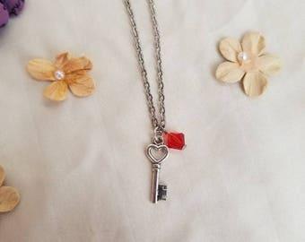 Pullip blythe doll Valentine's heart key necklace