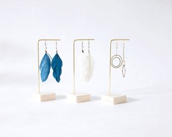 MILA I Earrings display I Earrings stand I Earrings Holder I Brass Wood I Earrings organizer I Earrings storage I Jewelry display