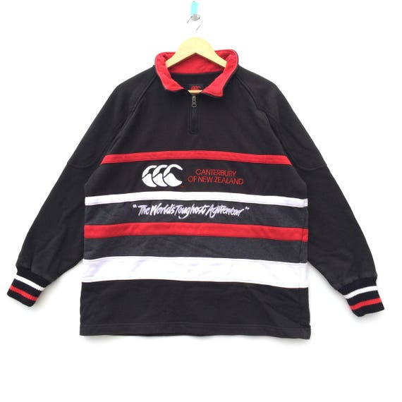 Vintage Canterbury Shirt Striped Long Sleeve Rugby Clothing Streetwear Activewear Large Size Unisex Adult ypL695W