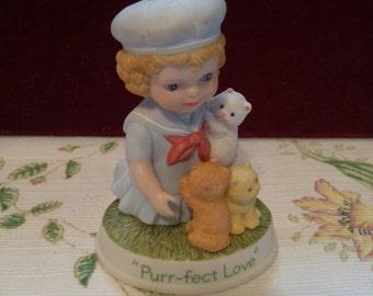 "Avon Tender Momries ""Purr-fect Love"" 3 Kitty Figurine"
