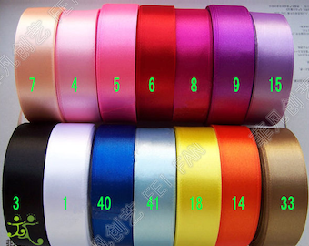 "7/8"" 22mm 5 Yards Satin RIBBON 14 Color Options U pick Hairbow Scrapbook"