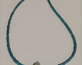 Sea Blue Jeweled-Sandal Anklet