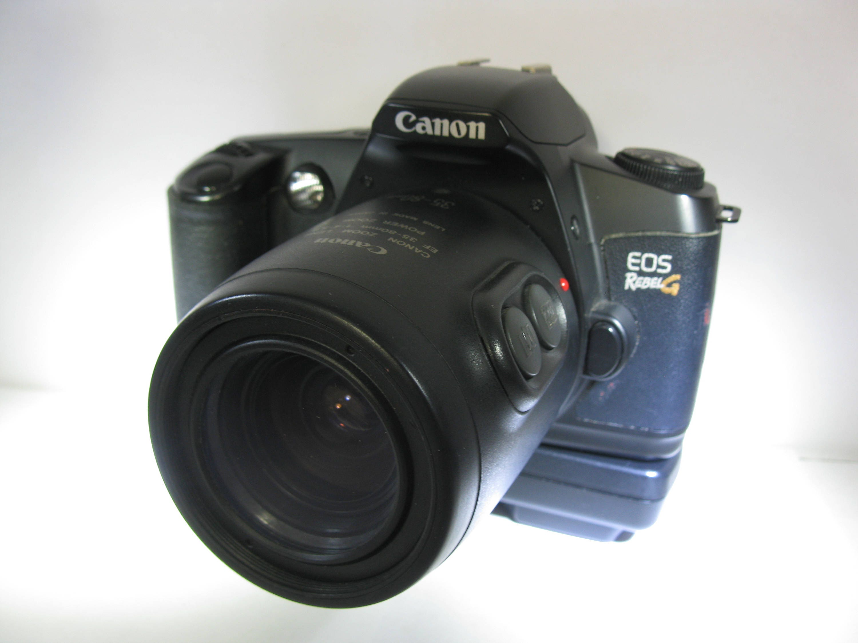 Jahrgang SLR Canon EOS Rebel G Film Kamera mit BP-8 Akku und