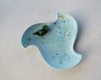 Ceramic Frog Soap or Trinket Dish