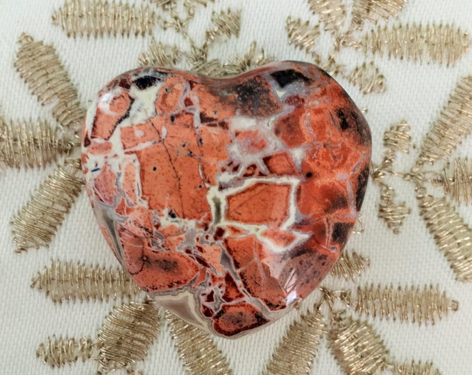 Picasso Jasper Heart infused w/ Reiki/ Healing Crystals and Stones