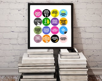 INTO the WOODS Quotes Poster / Printable Wall Art / Broadway Musical Movie Lyrics / ITW Film / Sondheim and Lapine // Instant Download