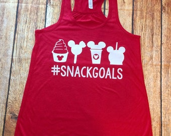 Snack Goals, Snack Goals Tank, Disney Tank, Dole Whip, Run Disney, Disney Princesses, Disney Snacks Tank Top, Disney Snack Goals