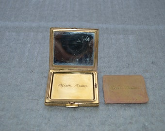 Vintage Elizabeth Arden Gold-Tone Powder Compact---From the 1950's