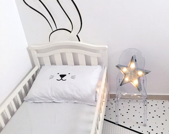 SALE: Nursery Wall Decal / Kids Décor / Bunny Wall Decal / Vinyl Wall Decals / Rabbit Wall Decal / Minimalist Room / Children Decor